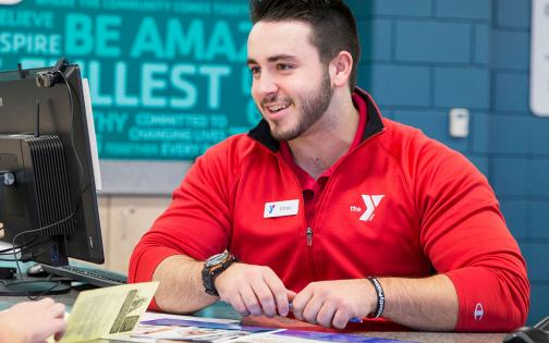 Member getting information about the Y from staff